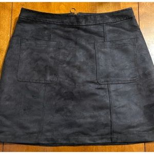 Old Navy Black Suede Skirt with Pockets